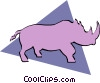 Rhinoceros Vector Clipart graphic