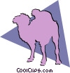 Vector Clipart picture  of a Camels