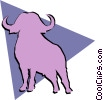 Vector Clip Art picture  of a Water buffalo