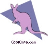 Kangaroos Vector Clipart illustration