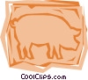 Vector Clip Art graphic  of a Pig