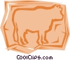Vector Clipart picture  of a Cows