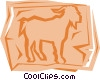Vector Clipart graphic  of a Goats