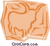 Vector Clip Art picture  of a Bulls