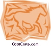Horse Vector Clip Art graphic