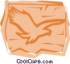Vector Clipart graphic  of a Eagles