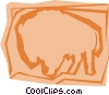 Vector Clip Art image  of a Buffalo