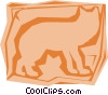 Vector Clip Art graphic  of a Fox