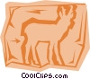 Antelope Vector Clip Art graphic