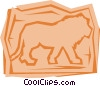 Vector Clip Art picture  of a Lions