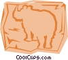 Vector Clipart illustration  of a Rhinoceros