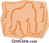 Gorillas Vector Clipart picture