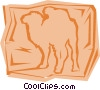 Vector Clipart graphic  of a Camel