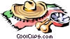 Vector Clip Art image  of a Mexican hat
