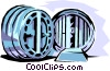 Vector Clipart graphic  of a Bank vaults