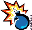 Vector Clip Art image  of a Time bomb