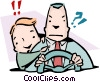 Back seat driver Vector Clip Art graphic