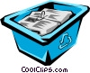 Vector Clip Art image  of a Recycle