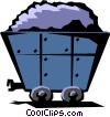 Vector Clipart graphic  of a Coal