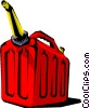 Vector Clip Art picture  of a Gas can