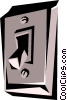 Light switch Vector Clipart picture