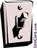 Vector Clipart graphic  of a Light switch