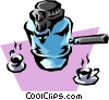 Espresso coffee machine Vector Clip Art graphic