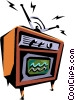 Vector Clipart picture  of a Television