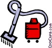 Vector Clip Art image  of a Vacuums