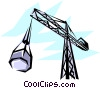 Construction crane Vector Clipart illustration