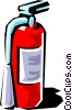 Vector Clipart graphic  of a Fire extinguishers