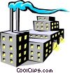 Factory Vector Clip Art graphic