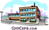 Vector Clipart picture  of a Office building