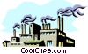 Vector Clipart image  of a Factory