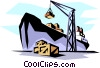 Container ship Vector Clipart illustration