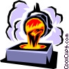 Vector Clip Art image  of a Smelter