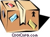 Vector Clipart image  of a Shipping cases