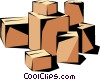 Shipping cases Vector Clipart picture