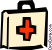 Medical first-aid kit Vector Clipart illustration