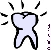 Vector Clipart graphic  of a Tooth