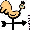 Vector Clipart graphic  of a Weathervane