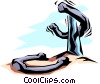Vector Clipart graphic  of a Horseshoes