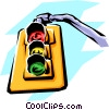 Vector Clip Art graphic  of a Traffic lights