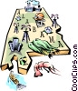 Vector Clipart graphic  of an Alabama vignette map