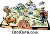 Vector Clip Art image  of a Colorado vignette map