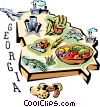 Georgia vignette map Vector Clipart image