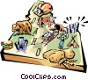 Vector Clipart image  of a Idaho vignette map