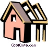 Vector Clip Art image  of a House frame