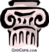 Ionic column Vector Clipart illustration