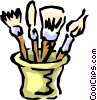 Artist's brushes Vector Clipart graphic